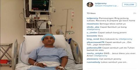 Asam Lambung, Jeremy Teti Dilarikan ke Rumah Sakit