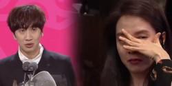 PIDATO KEMENANGAN LEE KWANG SOO DI SBS ENTERTAINMENT 2016 AWARDS BIKIN SONG JI HYO BANJIR AIR MATA
