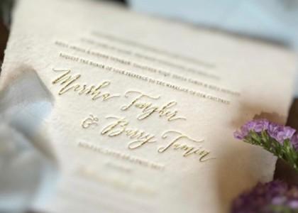 Undangan pernikahan Caca dan Barry